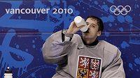 Jakub Štěpánek na střídačce během olympijských her