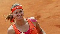 Radostné gesto tenistky Petry Kvitové