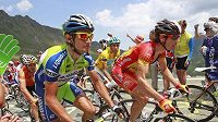 Roman Kreuziger (v zelenomodrém) na Tour de France.