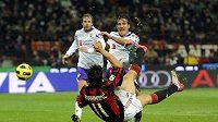 Zlatan Ibrahimovic (vpředu) - ilustrační foto.