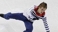 Krasobruslař Tomáš Verner padá během krátkého programu na olympijských hrách ve Vancouveru