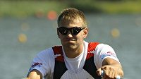 Skifař Ondřej Synek během mistrovství světa ve veslování v Poznani