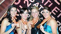 Rychlé holky se dočkaly medailí.