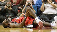 Zraněný basketbalista Portlandu Greg Oden