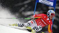 Kathrin Hölzlová při obřím slalomu v Ga-Pa.