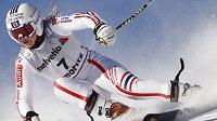Tessa Worleyová z Francie si jede pro vítězství v o brím slalomu ve Svatém Mořici.