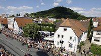 Týden před Velkou cenou Německa představil Sebastian Vettel v rodném Heppenheimu svůj monopost Red Bull.