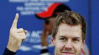 Němec Sebastian Vettel po kvalifikaci na VC Japonska F1.