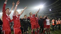 Radost fotbalistů Bayernu Mnichov