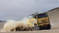 Kamión Liaz Martina Macíka při Rallye Dakar 2010.