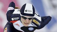 Rychlobruslařka Martina Sáblíková na trati 1500 metrů v norském Hamaru
