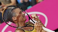 Italská tenistka Flavia Pennettaová se raduje z vítězství