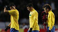 Zklamaní Brazilci po remíze s Venezuelou.