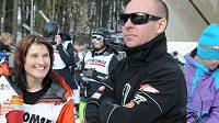 Mariánské Lázně čeká lyžařská show s Nikolou Sudovou. Na snímku je česká reprezentantka se svým koučem Radkem Herotem.