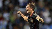 Philipp Lahm se raduje z gólu v síti Argentiny.