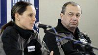 Bývalý trenér cyklokrosařů Petr Klouček a Kateřina Hanušová-Nashová