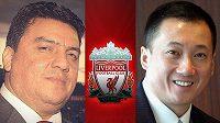 Číňan z Hong Kongu Kenneth Huang (vpravo) a syrský podnikatel Jahjá Kirdi jsou nejvážnějšími zájemci o FC Liverpool.