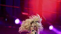 Zpěvačka Shakira při zahajovacím koncertu před startem fotbalového MS v Jižní Africe.