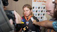 Tomáš Netík po prvním tréninku v dresu HC Lev.