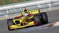 Jan Charouz na Masarykově okruhu při jízdě s vozem formulové série Auto GP.