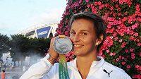Oštěpařka Barbora Špotáková se stříbrnou medailí na mistrovství světa v korejském Tegu.