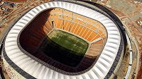 Stadión Soccer City v Johannesburgu.