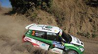 Finský pilot Juho Hänninen na trati Rallye Azory