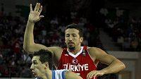 Řecký basketbalista Dimitris Diamantidis.