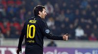 Lionel Messi měl v Edenu důvod k úsměvu. Hvězda Barcelony Plzni nastřílela hattrick.