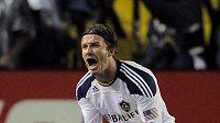 David Beckham se raduje z prvního titulu v zámořské MLS.