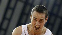 Vícebojař Roman Šebrle během sedmiboje na halovém mistrovství světa v Dauhá