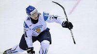 Radost Fina Mikaela Granlunda po skvostné trefě proti Rusku.
