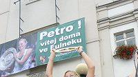 Tenistka Petra Kvitová během přivítání ve Fulneku