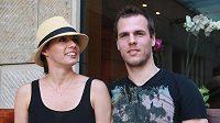 David Krejčí s americkou přítelkyní Naomi na návštěvě Česka.