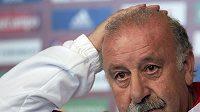 Kouč španělských fotbalistů Vicente del Bosque byl samý úsměv.