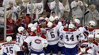 Hokejisté Montrealu se radují z postupu do finále Východní konference.