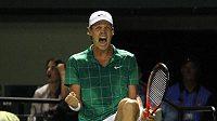 Radost českého tenisty Tomáše Berdycha
