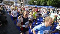 Běžci na Pražském půlmaratónu