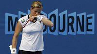 Zklamaná belgická tenistka Kim Clijstersová