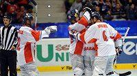 Čeští inline hokejisté se radují z vítězství