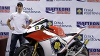 Lukáš Pešek s novým motocyklem Moriwaki