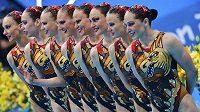 Ruské akvabely vybojovaly zlatou medaili v synchronizovaném plavání.