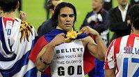 Falcao je velmi pobožný hráč.