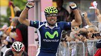 Francisco Alberdi Ventoso se raduje z vítězství v deváté etapě Gira.
