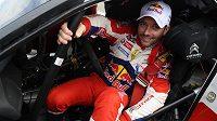 Francouz Sebastien Loeb při Španělské rallye