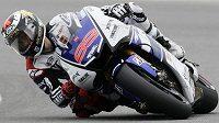 Jorge Lorenzo, španělský lídr královské kategorie MotoGP, byl v sobotní kvalifikaci GP České republiky v Brně rychlý jako blesk