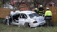 Pod koly soutěžního vozu zemřely při RallyShow Uherský Brod u obce Lopeník čtyři dívky.