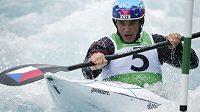 Vavřinec Hradilek na olympijské trati v Lee Valley