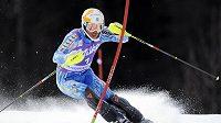 Švédský lyžař Andre Myhrer na svahu v Kranjska Gora