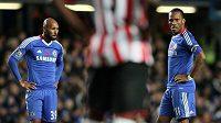 Nicolas Anelka a Didier Drogba ještě v dresu Chelsea.